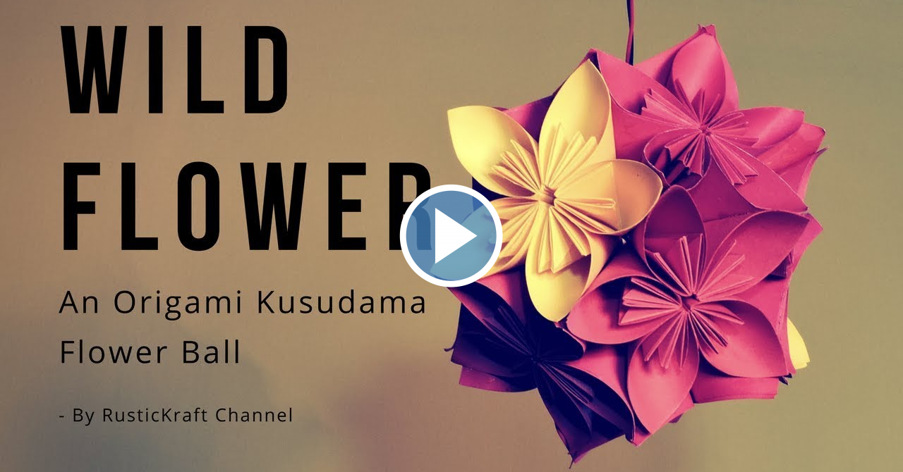 Origami Flower Ball Kusudama Diy Vidrise For Large Youtube