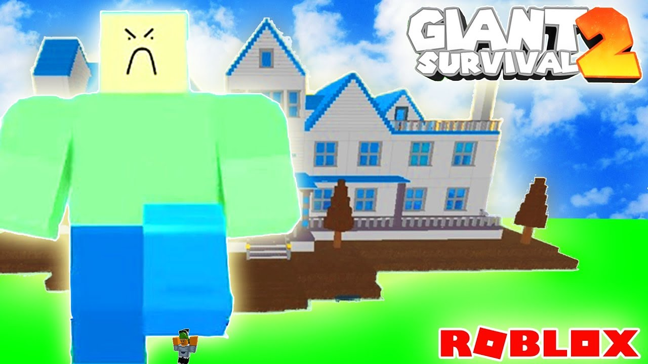 Survive The Giant Noob Attack Roblox Giant Survival 2 Playing As A Giant R O B L O X Vidrise For Large Youtube Thumbnail Posts To Social Media
